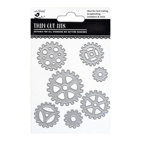 Thincut Dies - Cogs and wheels 7pc Little Birdie