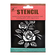 Stencil - Rose Bush, 4 x 4in, 1pc