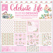 Paper Pack 12in x 12in Celebrate Life 12 Sheet, 250gsm