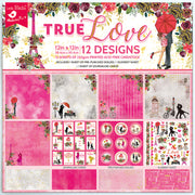 Paper Pack  True Love-12in x 12in, 12 Sheets, 12 Designs, 250gsm