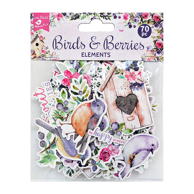 Ephemera Birds And Berries 70pc Little Birdie
