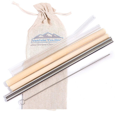 Sampler Pack of Reusable Straws