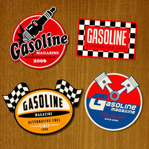 Ark med Gasoline Stickers