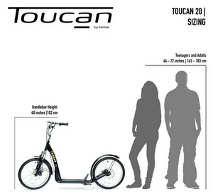 TOUCAN PUSH SCOOTER 20HD