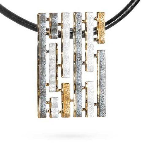 Abstract Glam Stripe Necklace