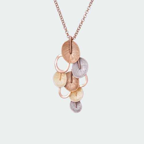 Eclectic Petal Necklace - Gold