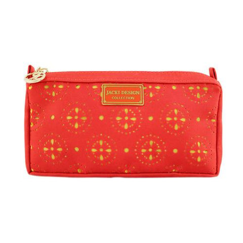 Jacki Design Cosmopolitan Compact Cosmetic Bag, Orange