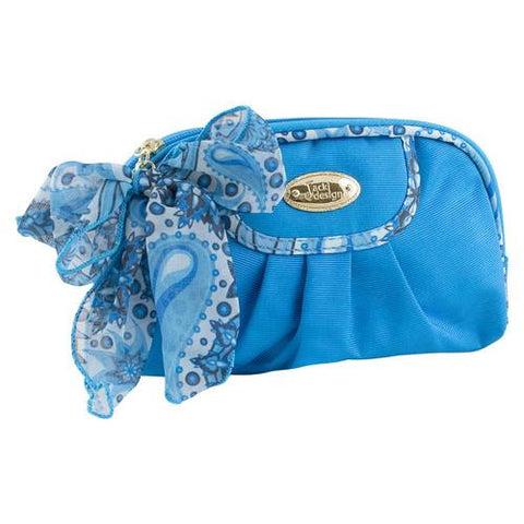 Jacki Design Summer Bliss Round Cosmetic Bag, Blue