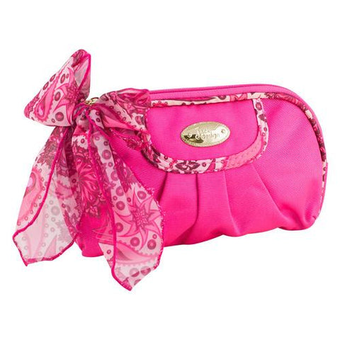 Jacki Design Summer Bliss Round Cosmetic Bag, Hot Pink