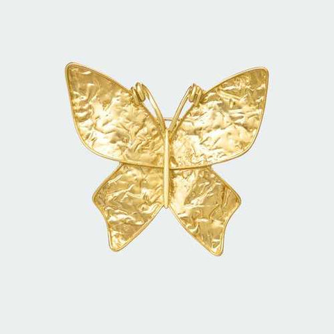 Gilded Butterfly Brooch