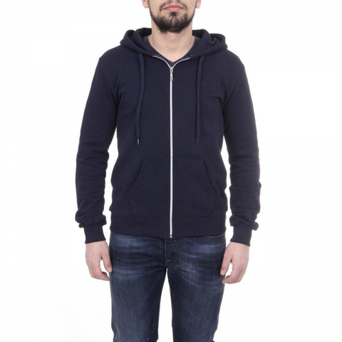 V 1969 Italia Mens Hoodie With Zip ART. 4468 DARK BLUE