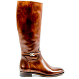 Kiton Womens High Boot D34801 4H5103 LUX CAFFE