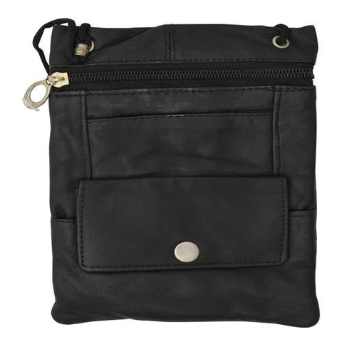 Soft Leather Mini Messanger Bag -Assorted Color