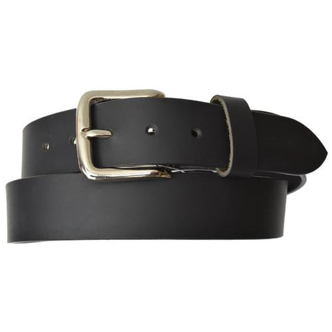 AFONiE Genuine Leather Belt with silver Buckle