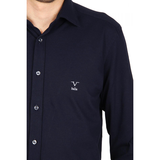 V 1969 Italia mens long sleeve shirt Paris Piquet Blu