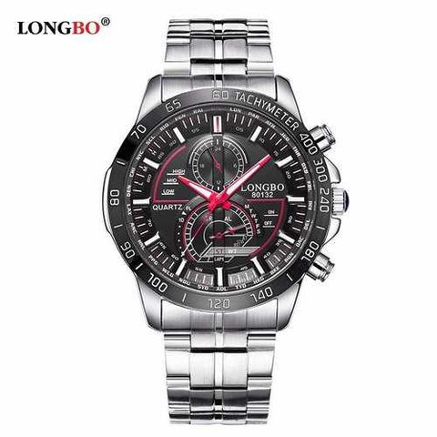 LONGBO Stainless Steel Luminous Watches