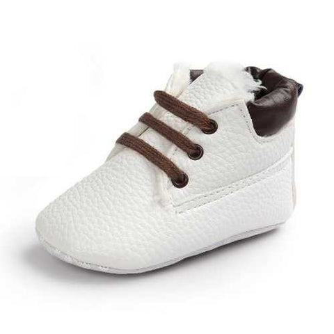 Unisex Warm Soft Sole Leather Cotton Newborn Toddler Shoes