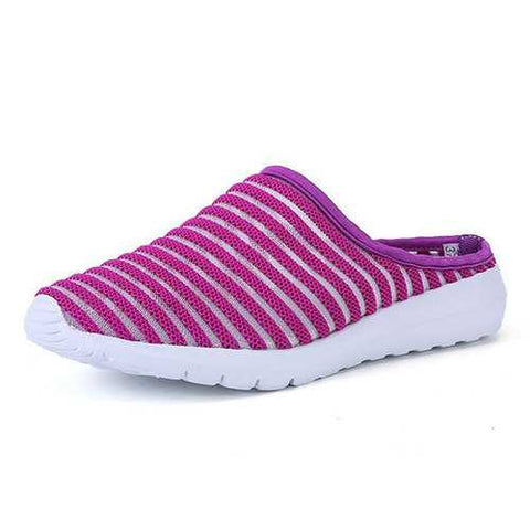 Stripe Breathable Beach Slippers
