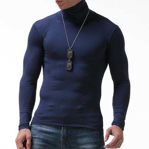 Well-absorbent Modal Thermal Stretchy Turtleneck Shirt