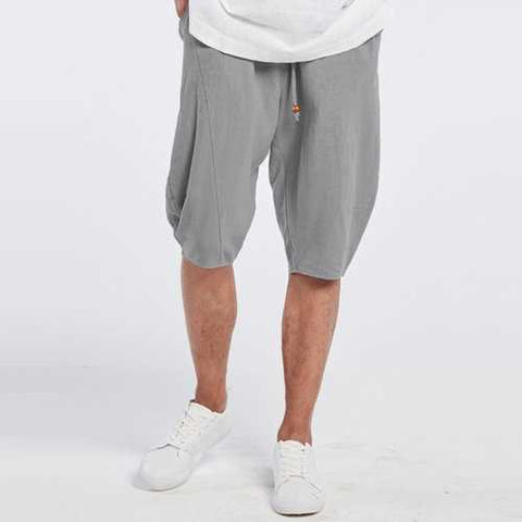 Breathable Linen Knee Length Casual Shorts