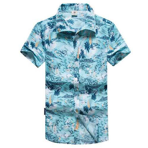 Men Hawaiian Printing Shirt