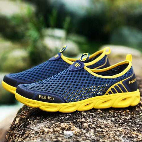 Men Breathable Honeycomb Mesh Casual Sneakers Upstream Shoes