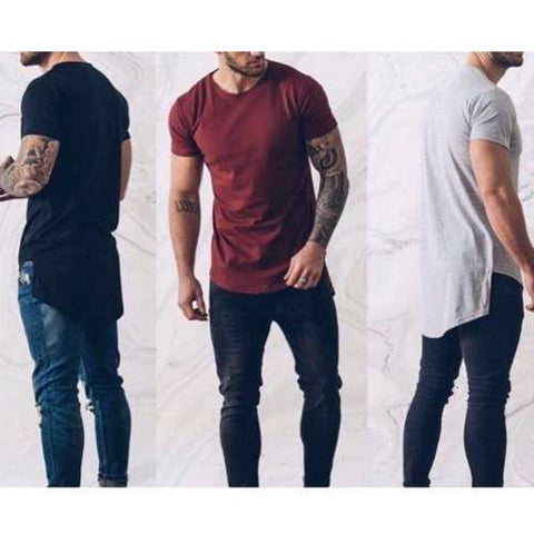 Short Front Long Casual T Shirts
