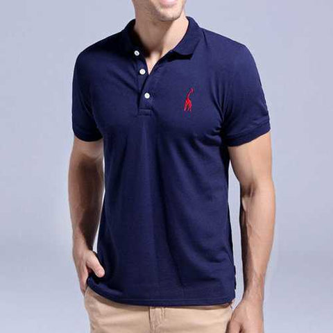 Deer Embroidery Business Casual Golf Shirt