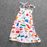 Summer Cute Print Children Dress