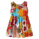 Flower Printed Girls Summer Dresses