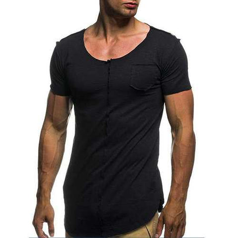 Mens Thin Cotton Breathable Casual T Shirt