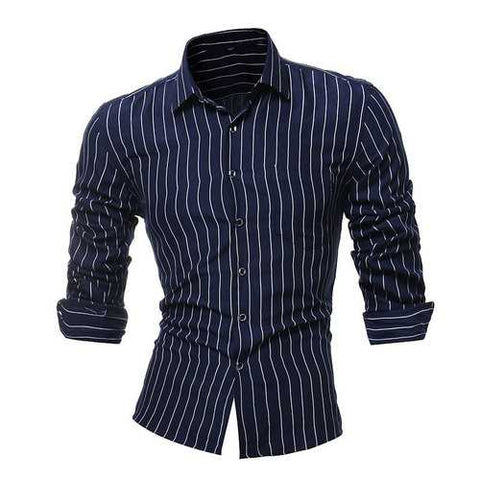 Stripes Printing Slim Shirts