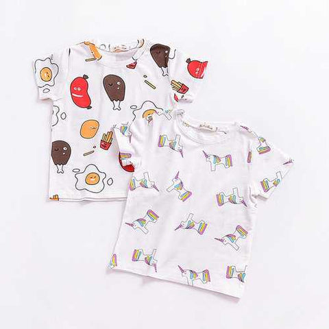 Food Pattern Girls Boys Unisex Tops