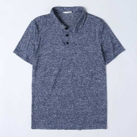 Business Casual Pure Color Golf Shirts