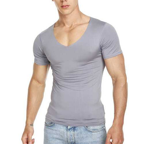 Traceless Slim Fit Basic Casual T Shirts