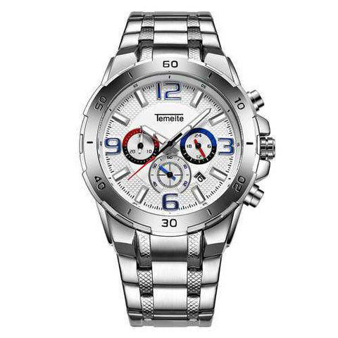 TEMEITE Luxury Stainless Steel Mens Watches