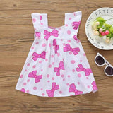 Bowknot Print Toddlers Girls Flower Dresses