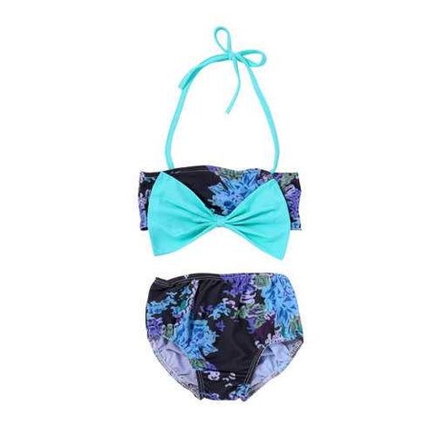 Bowknot Girls Bikini Set For 1Y-4Y
