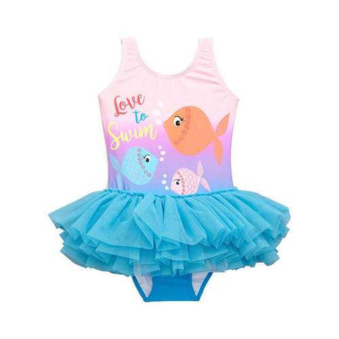 1Pcs Fish Girls Tutu Swimwear For 1Y-6Y