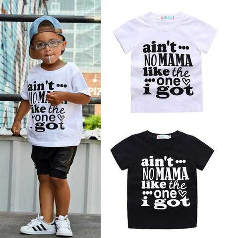 Letter Printed Boys T-shirt For 1-7Y