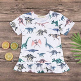 Kids Girls Dinosaur Print Dresses