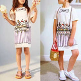 Girls Print Casual Summer Dress