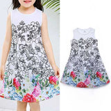 Digital Print Girls Vest Dress For 2Y-7Y