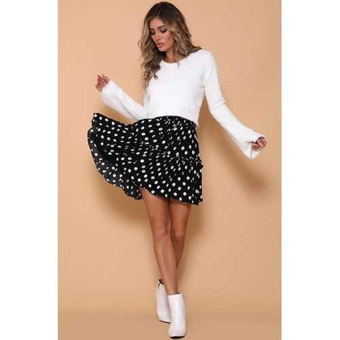 2018 fashion girl lacing Pleated skirt