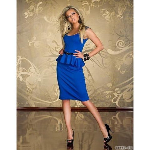 Blue business formal club dress