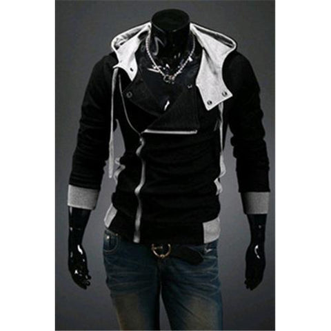 Hot sale styles Men's Autumn and winter cardigan Korean men's Hoodie Jacket Black