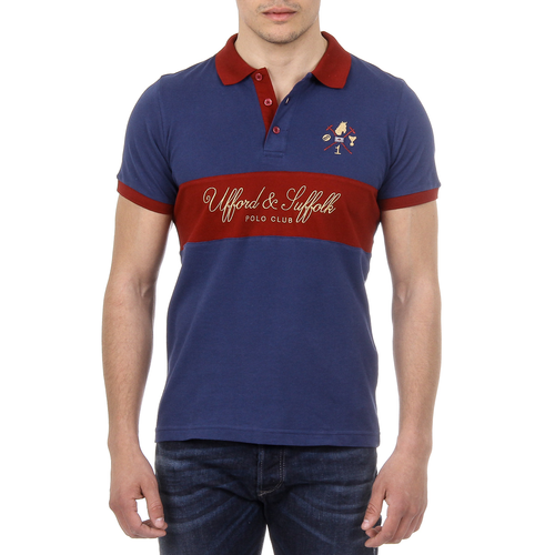 Ufford & Suffolk Polo Club Mens Polo Short Sleeves US002 NAVY BLUE