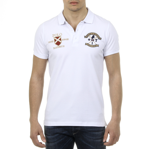 Ufford & Suffolk Polo Club Mens Polo Short Sleeves US007 WHITE