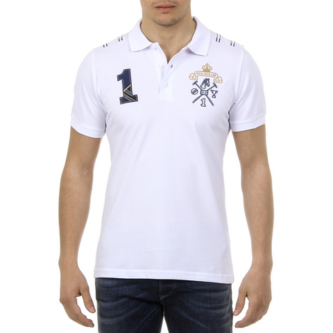 Ufford & Suffolk Polo Club Mens Polo Short Sleeves US008 WHITE