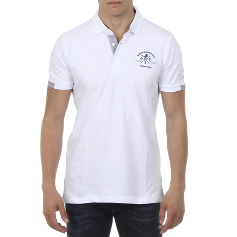 Ufford & Suffolk Polo Club Mens Polo Short Sleeves US025 WHITE